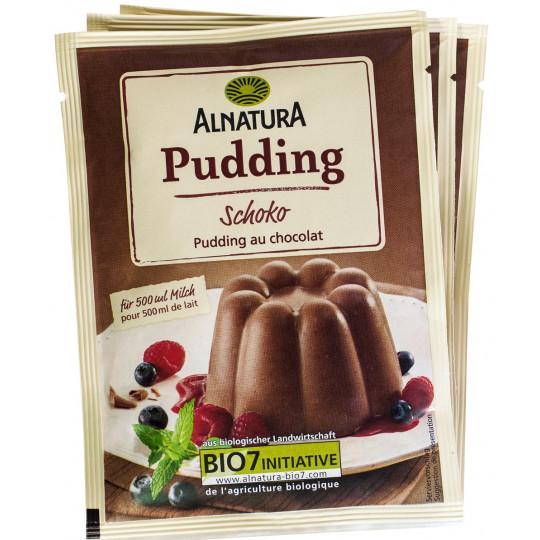 Alnatura Bio Pudding Schoko 3x 46 g