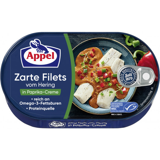 Appel zarte Heringsfilets in Paprika-Creme 200G
