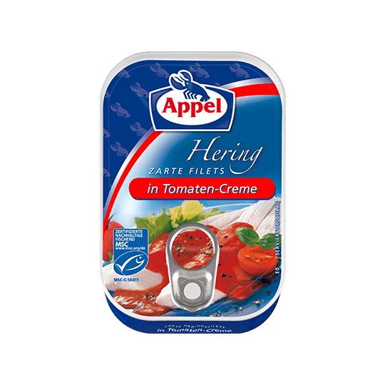 Appel zarte Heringsfilets in Tomaten-Creme 100G