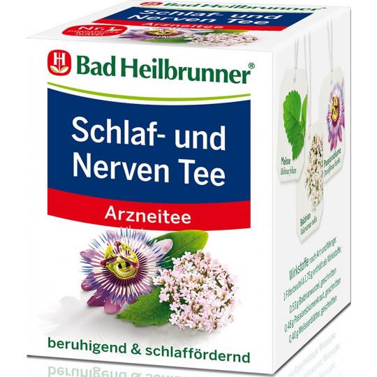Bad Heilbrunner Schlaf- und Nerven Tee 8ST 14G