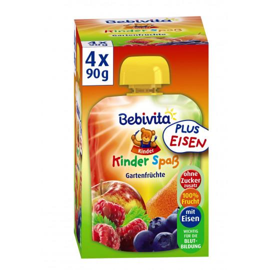 Bebivita Kinder Spaß Gartenfrüchte ab 1 Jahr 4x 90 g