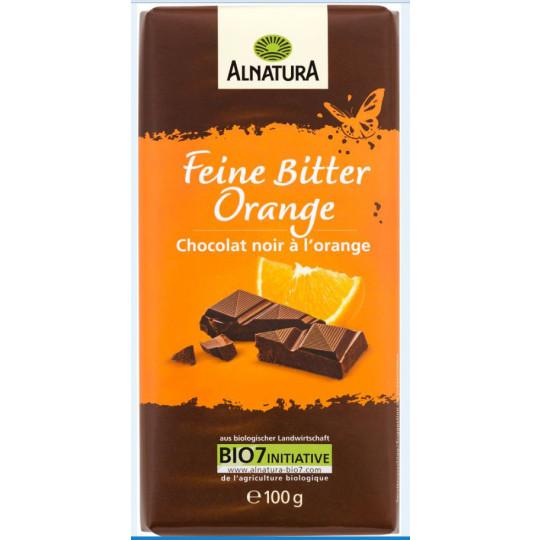 Alnatura Bio Feine Bitter Orange Schokolade 100G