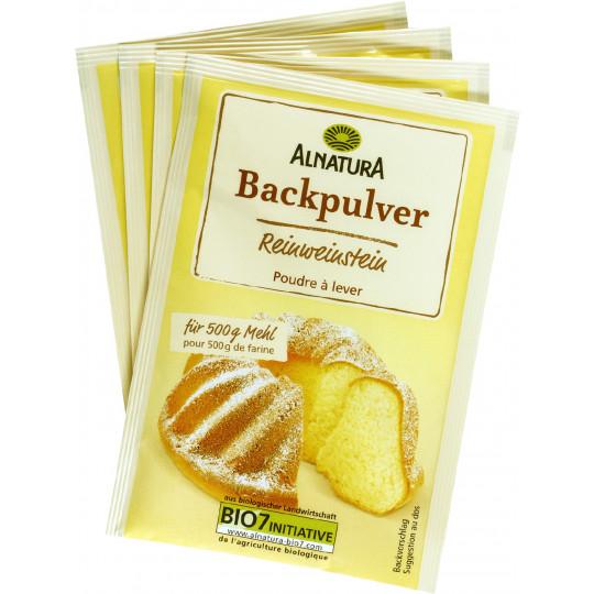 Alnatura Bio Backpulver Reinweinstein 4x 18G