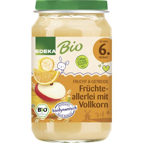 EDEKA Bio Früchteallerlei mit Vollkorn ab dem 6.Monat 190G