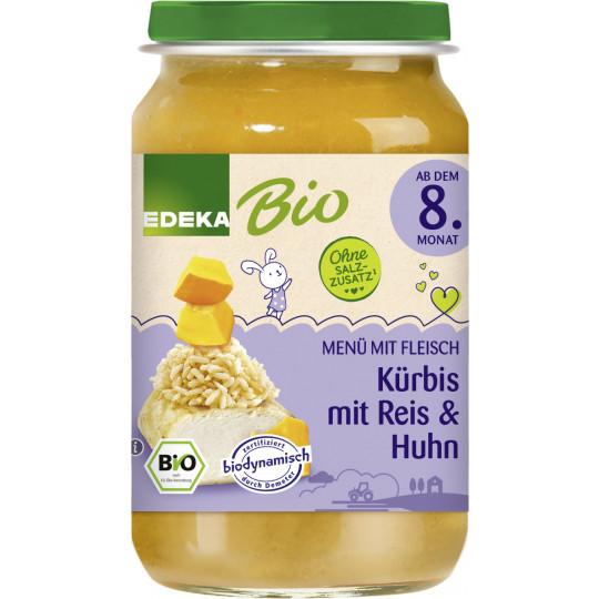 EDEKA Bio Kürbis mit Reis & Huhn ab dem 8. Monat 220G