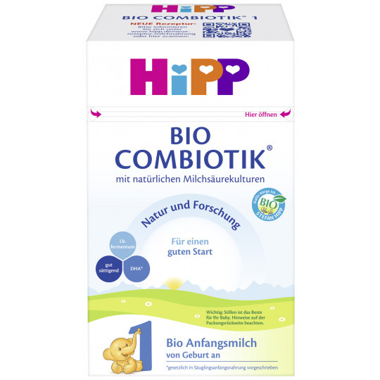 Hipp Bio Combiotik 1 Anfangsmilch von Geburt an 600G