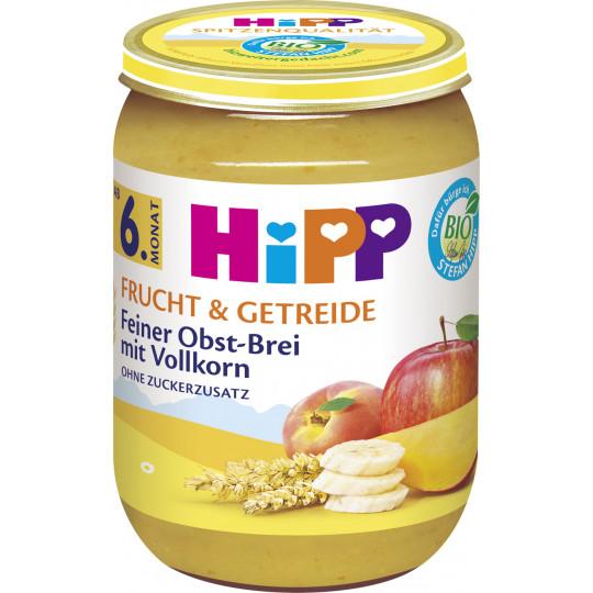Hipp Bio Frucht & Getreide Feiner Obst-Brei mit Vollkorn ab 6.Monat 190G