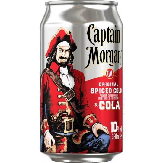 Captain Morgan Original Spiced Gold & Cola 0,33 ltr