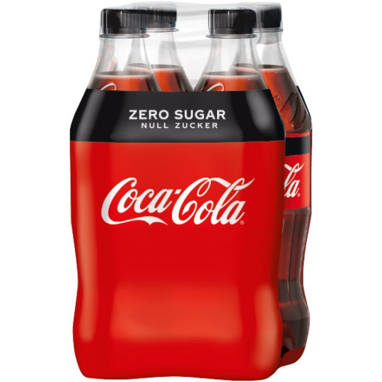 Coca-Cola Zero 4x500ml PET