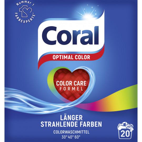 Coral Optimal Color Waschpulver 1,4KG 20WL
