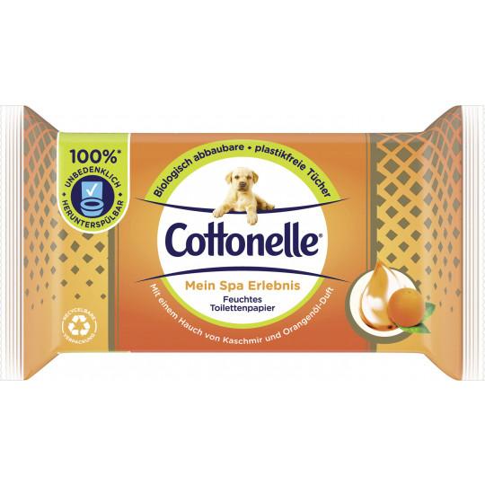 Cottonelle Feuchtes Toilettenpapier Mein Spa Erlebnis Kaschmir und Orangenduft NF 42ST