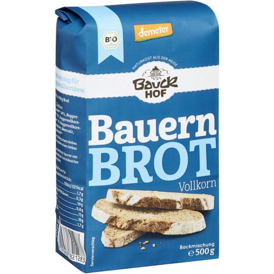 Bauckhof Demeter Bio Bauernbrot Vollkorn Backmischung 500g