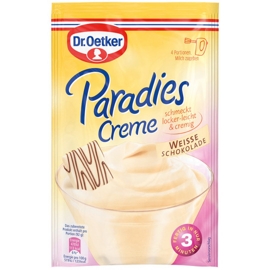 Dr.Oetker Paradies Creme weisse Schokolade 70 g