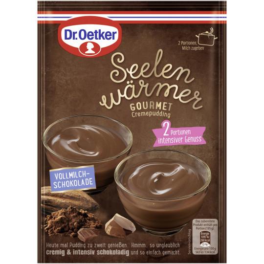 Dr.Oetker Seelenwärmer Gourmet Cremepudding Vollmilch Schokolade 90G