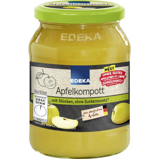 EDEKA Apfelkompott ohne Zuckerzusatz 355G