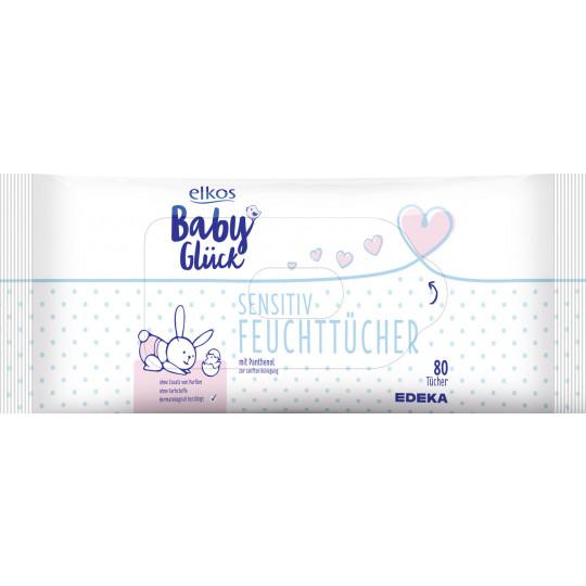 elkos Babyglück Feuchttücher Sensitiv 2x 80 Tücher