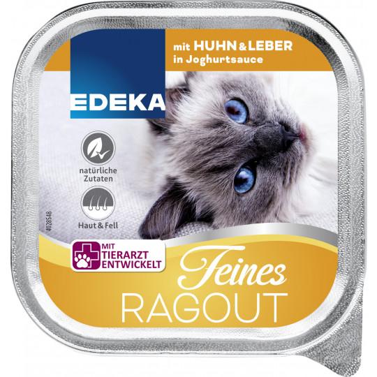 EDEKA Feines Ragout mit Huhn & Leber in Joghurtsauce 100G