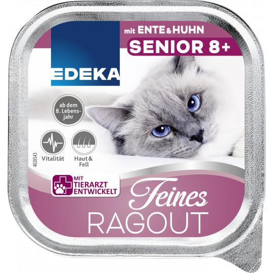 EDEKA Feines Ragout Senior 8+ mit Ente und Huhn 100G
