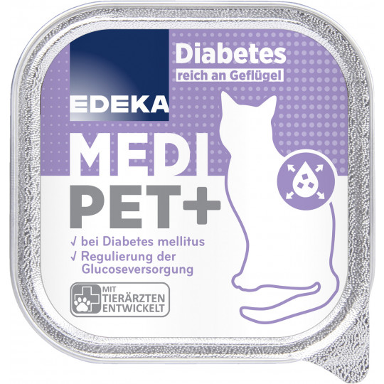 EDEKA Medi Pet+ Diabetes reich an Geflügel 100G