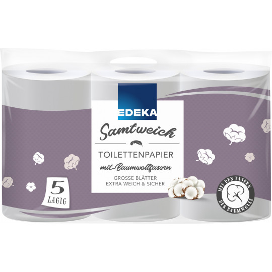 EDEKA Toilettenpapier samtweich 5-lagig 6x 130 Blatt
