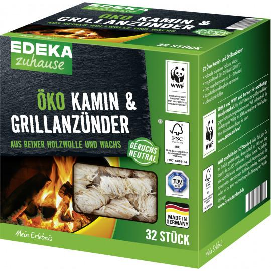 EDEKA zuhause Öko Kamin- & Grillanzünder 32ST