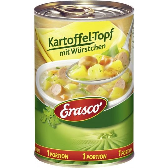 Erasco 1 Portion Kartoffel-Topf mit Würstchen 400G