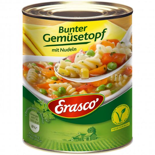 Erasco Bunter Gemüsetopf mit Nudeln 800G