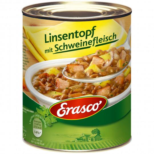 Erasco Linsentopf mit Schweinefleisch 800G