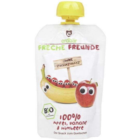 Erdbär Bio Freche Freunde Apfel, Banane & Himbeere 100 g