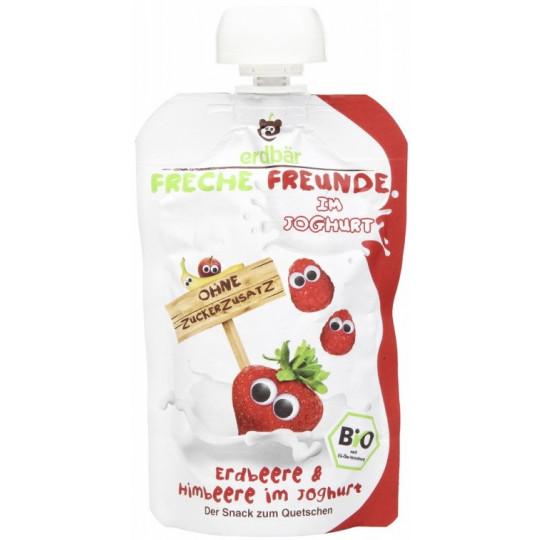 Erdbär Bio Freche Freunde Erdbeere & Himbeere im Joghurt 100 g