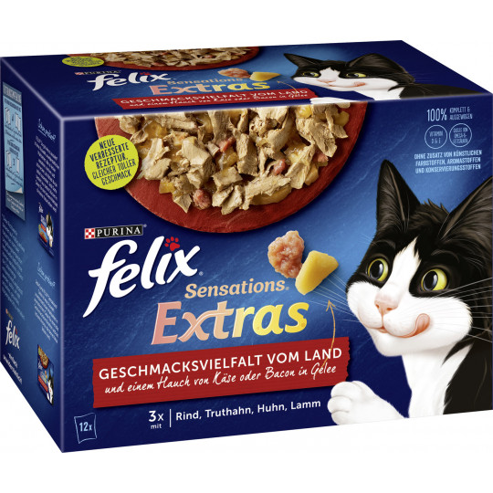 Felix Extras Vielfalt vom Land in Gelee 12x85G