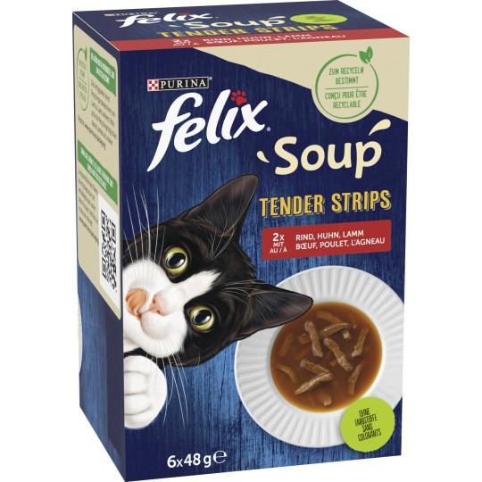 Felix Soup Tender Strips Land 6x48G