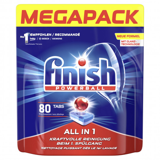Finish Powerball All in 1 Tabs Megapack 80ST