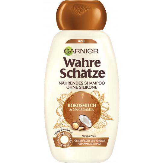 Garnier Wahre Schätze Kokosmilch & Macadamia Nährendes Shampoo 250 ml