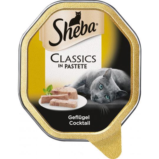 Sheba Classics in Pastete Geflügel Cocktail 85G