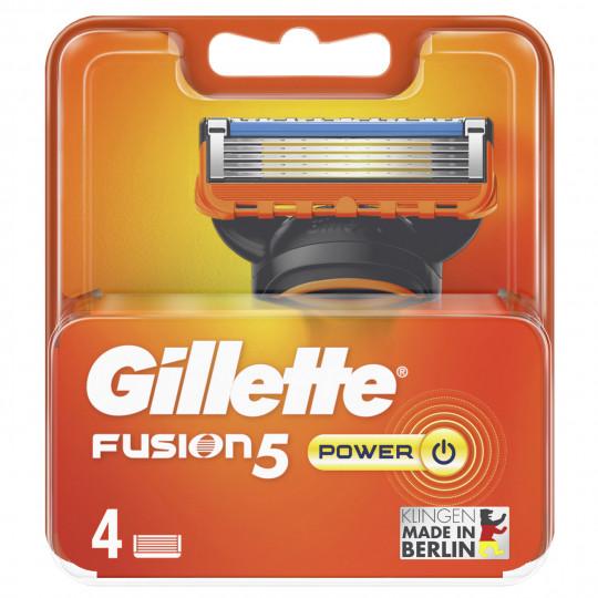 GilletteFusion5 Power Rasierklingen 4 Stück