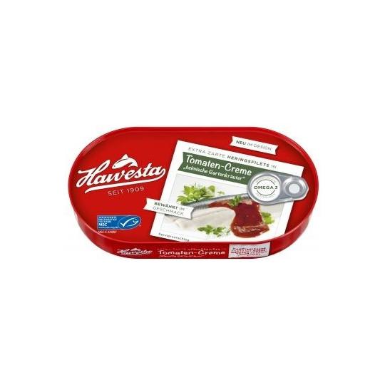 """Hawesta Heringsfilets in Tomaten-Creme """"Heimische Gartenkräuter"""" 200 g"""
