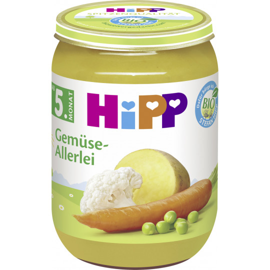 Hipp Bio Gemüse-Allerlei ab dem 5. Monat 190G