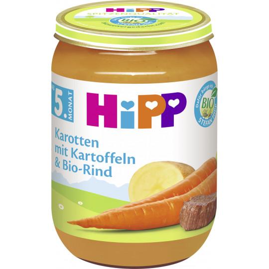 Hipp Bio Karotten mit Kartoffeln und Bio-Rind ab dem 5. Monat 190 g