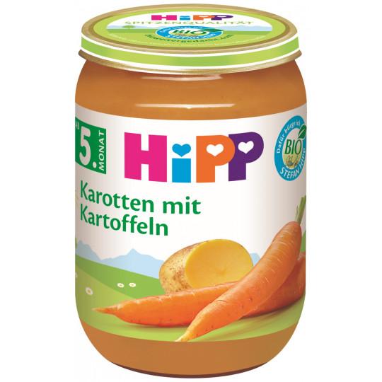 Hipp Bio Karotten mit Kartoffeln ab dem 5. Monat 190G