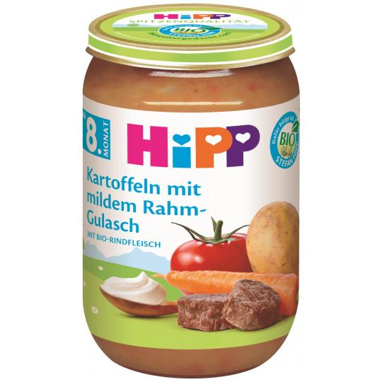 Hipp Bio Kartoffeln mit mildem Rahmgulasch ab dem 8. Monat 220G