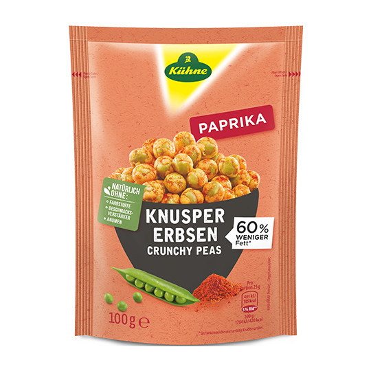 Kühne Enjoy Knusper Erbsen Paprika 100 g