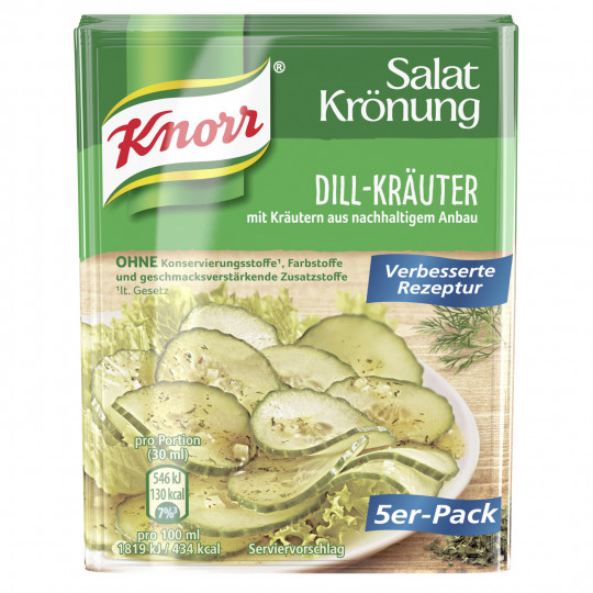 Knorr Salatkrönung Dill-Kräuter 5x 9 g