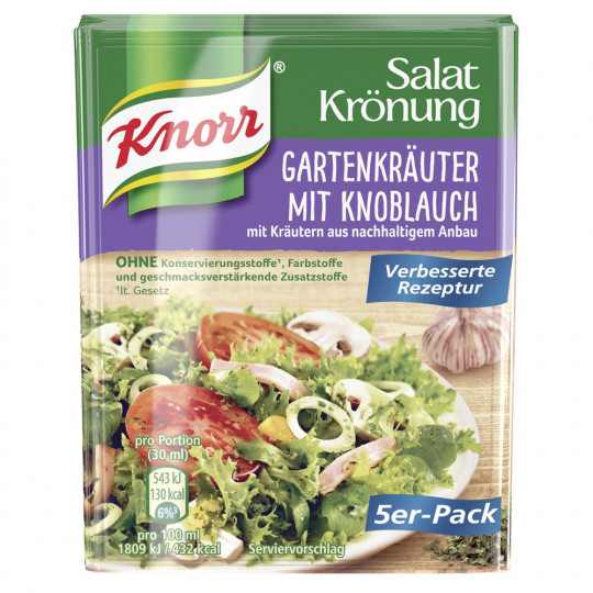 Knorr Salatkrönung Gartenkräuter mit Knoblauch 5x 8 g