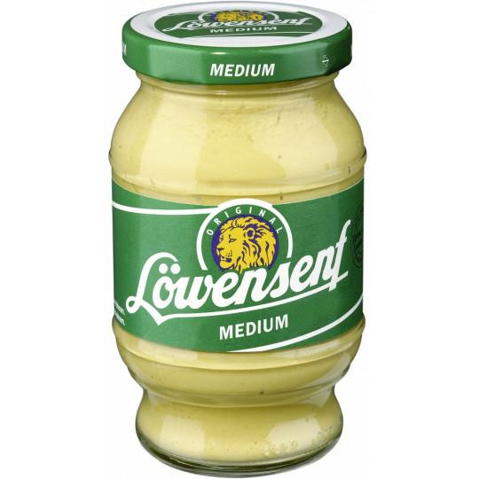 Löwensenf Senf medium würzig im Glas 250 ml