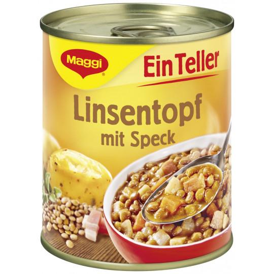 Maggi Ein Teller Linsentopf mit Speck 330 g
