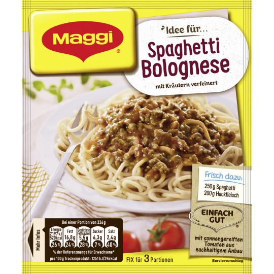 Maggi Idee für Spaghetti Bolognese 38 g