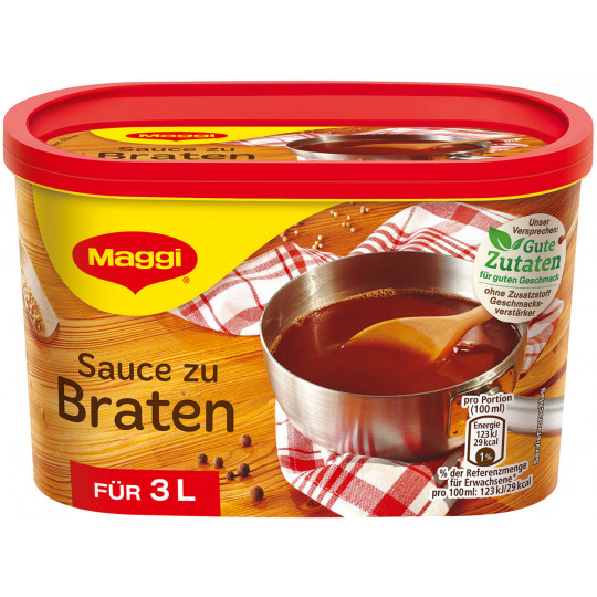 Maggi Sauce zu Braten ergibt 3 ltr