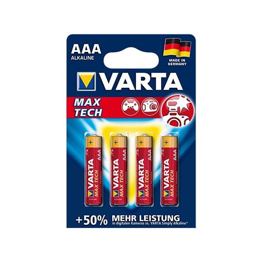 Varta Max Tech 1,5 V Micro AAA Batterien Type 4703 4 Stück