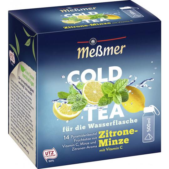 Meßmer Cold Tea Zitrone-Minze 14ST 38,5G